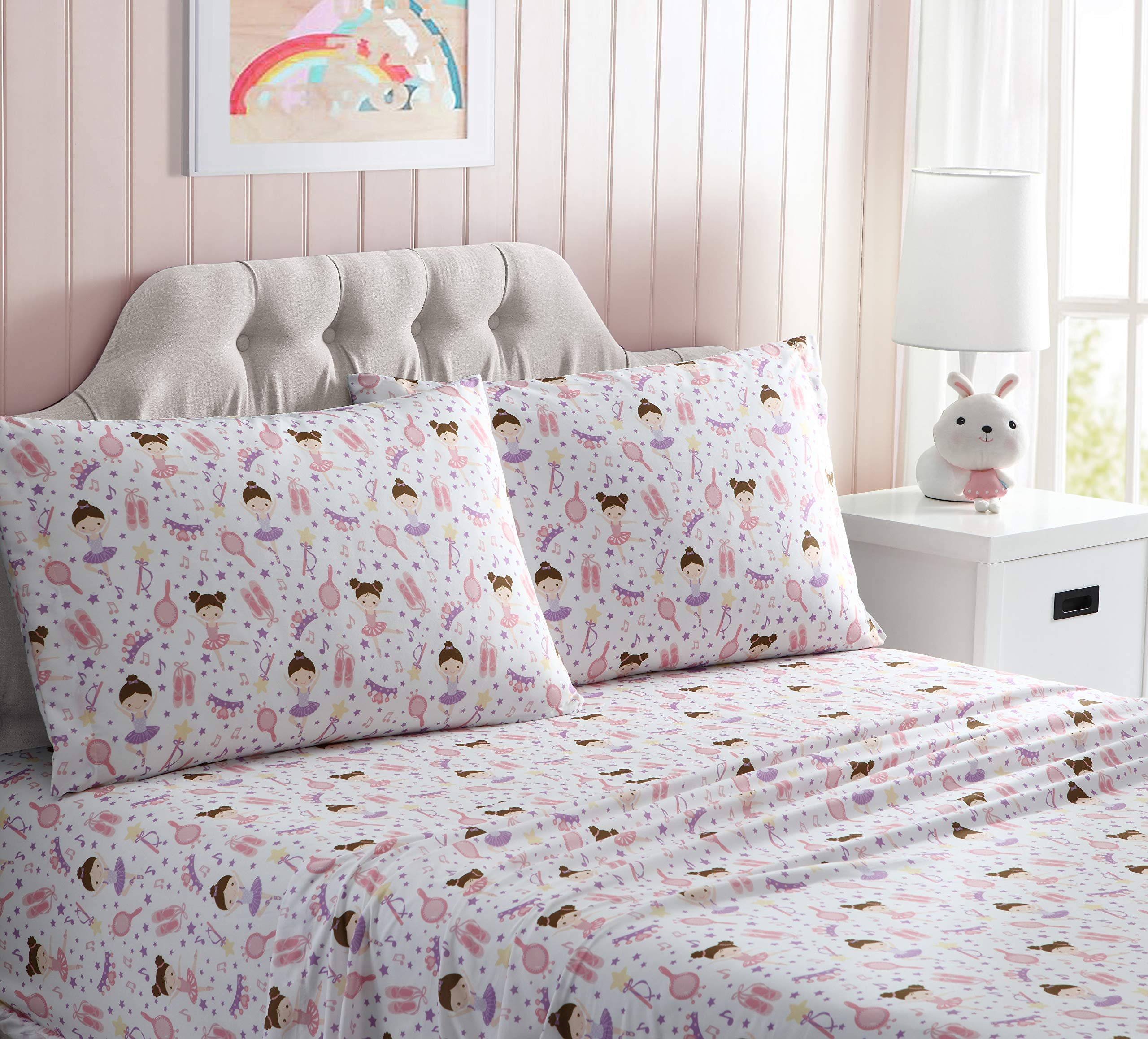Kute Kids Super Soft Sheet Set - Ballerina - Includes Pillowcase(s) Available in Twin & Full Size (Full) by Kute Kids