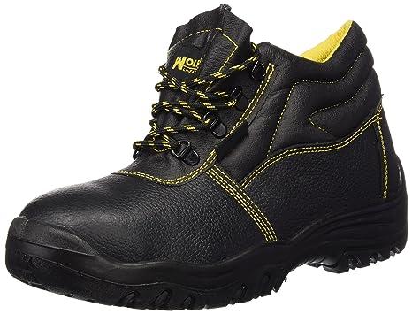 Wolfpack 15018030 Botas de seguridad de piel, talla 42, color negro