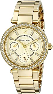 Michael Kors Womens Parker Gold-Tone Watch MK6056