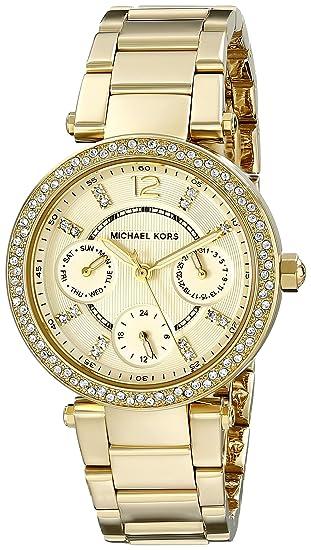 Michael Kors Reloj Analógico para Mujer de Cuarzo con Correa en Acero Inoxidable MK6056: Amazon.es: Relojes
