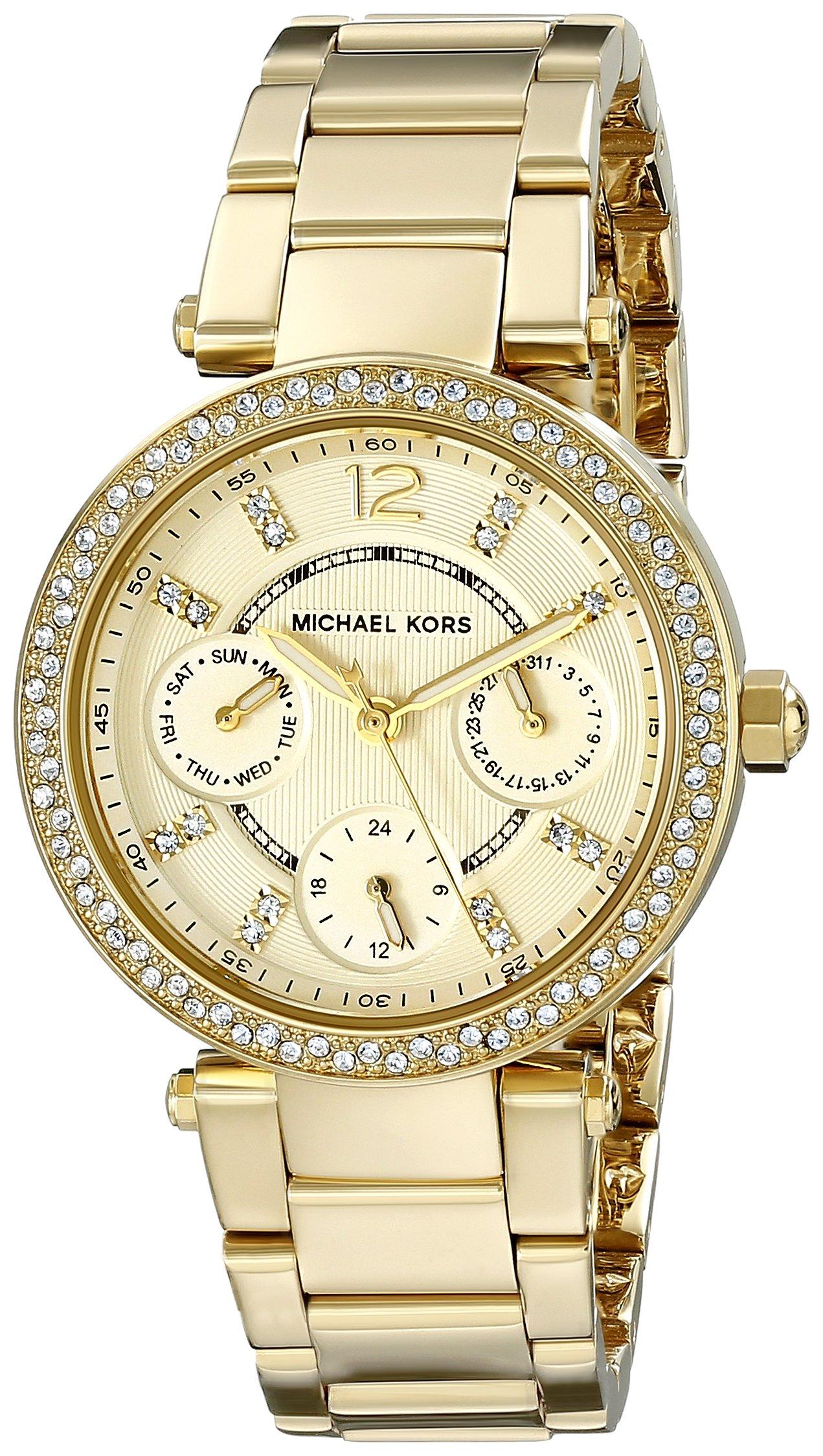 Michael Kors Women's Parker Gold-Tone Watch MK6056