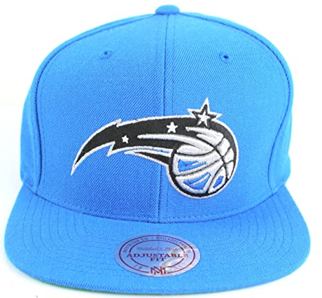 low priced 3d6e6 352d8 Orlando Magic NBA Mitchell   Ness Team Logo Solid Wool Adjustable Snapback  Hat (Blue)
