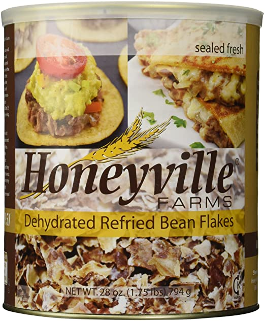 Refried Bean Flakes - 1.75 Pound Can
