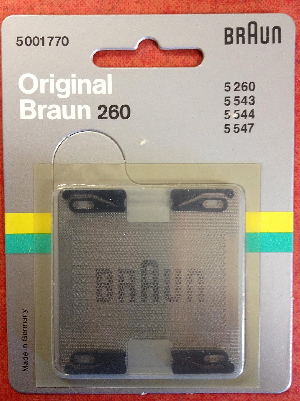 Marrón 5001770marcant/S 260/543Lámina de afeitado Braun