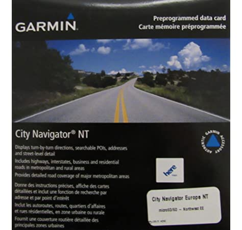 Tarjeta de Datos microSD Garmin 901243 City Navigator NT Europa