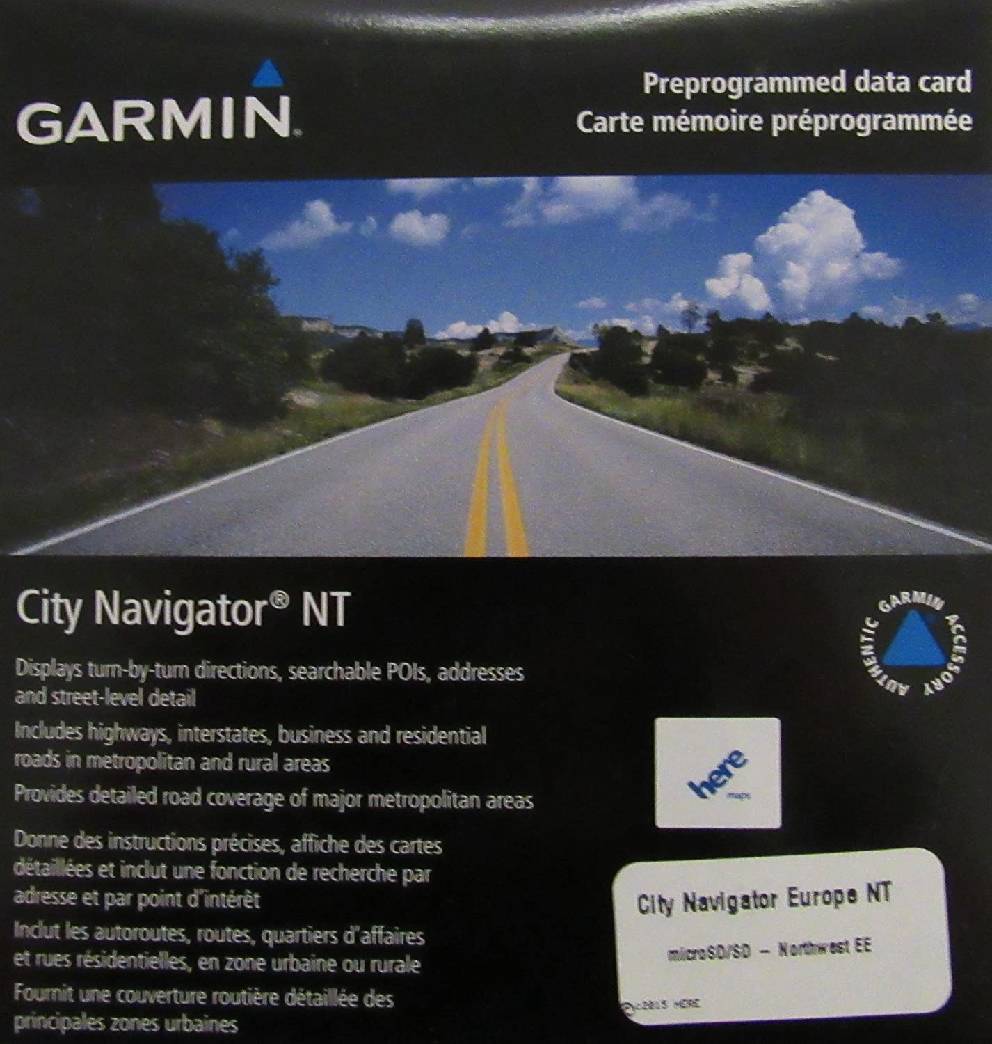 Garmin City Navigator Eastern Europe NT for Detailed Maps of Poland, Czech, Slovakia, Hungary, Austria, Slovenia, and Croatia (microSD/SD Card)
