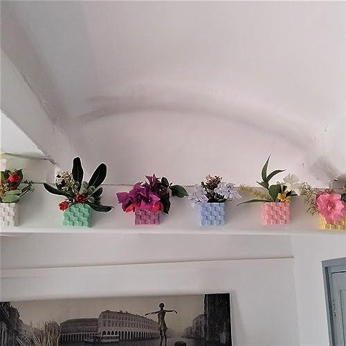 Kubischer Blumentopf Mit Integriertem Magnet, Vase, Vase In Keramikharz,  Sonderfarben   Exklusives Design