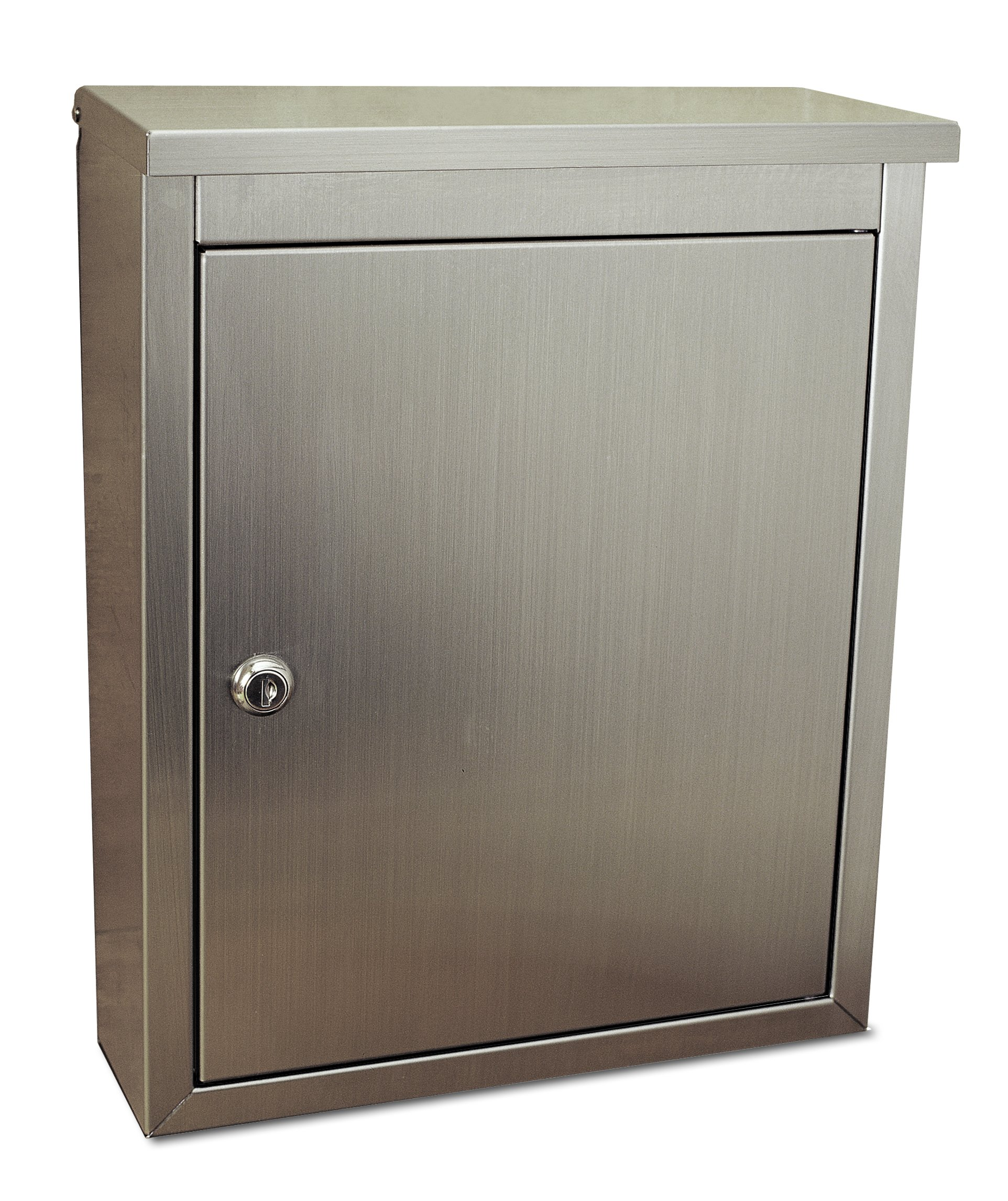 Architectural Mailboxes Metropolis Wall Mailbox, Stainless Steel Satin Finish