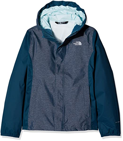 The North Face Girls Resolve Reflective Jacket - Blue Wing Teal Heather - S 4ed5f3e4d