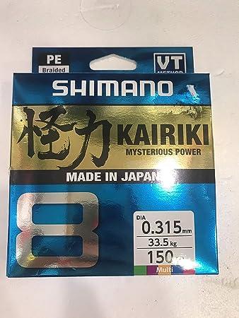 150 Meter Mantis Gr/ün 59WPLA58R0 SHIMANO Kairiki 8 8fach Geflochtene Angelschnur