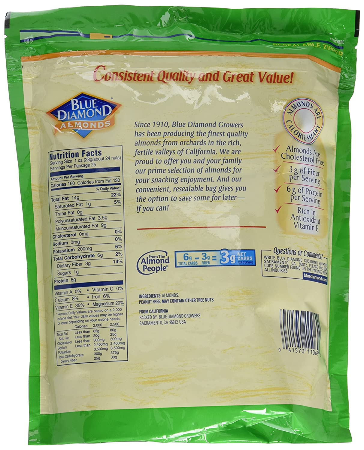 Blue Diamond Almonds Whole Natural Raw 25 Roasted Barbecue 130 Gr Ounce Grocery Gourmet Food