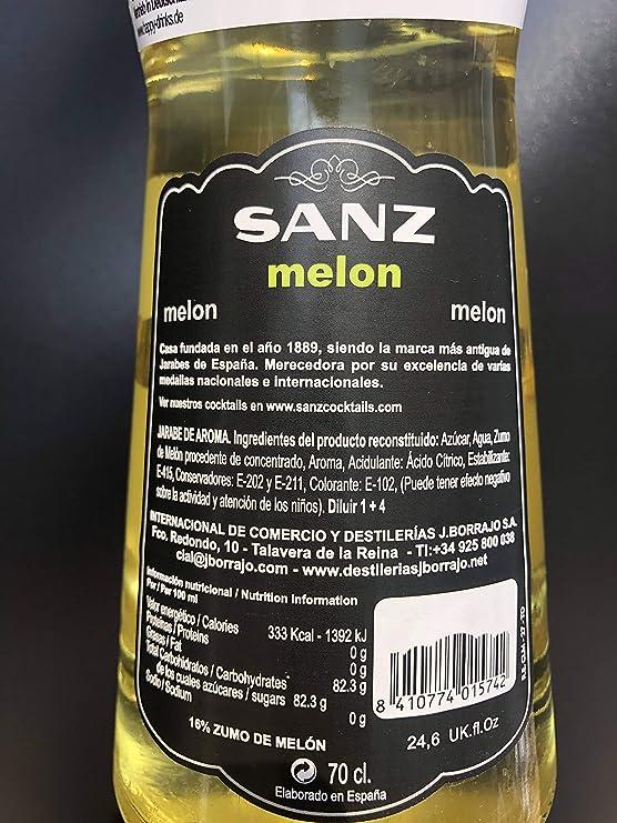 Jarabe Melón Sanz 70 cl: Amazon.es: Alimentación y bebidas