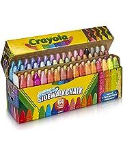 Crayola Washable Sidewalk Chalk, 64ct, Includes Glitter & Neon, Outdoor Gifts for Kids