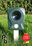 Pestbye Battery Operated Cat Repeller V2 - Easy To Use Ultrasonic Cat Scarer with HyperResonance Frequency