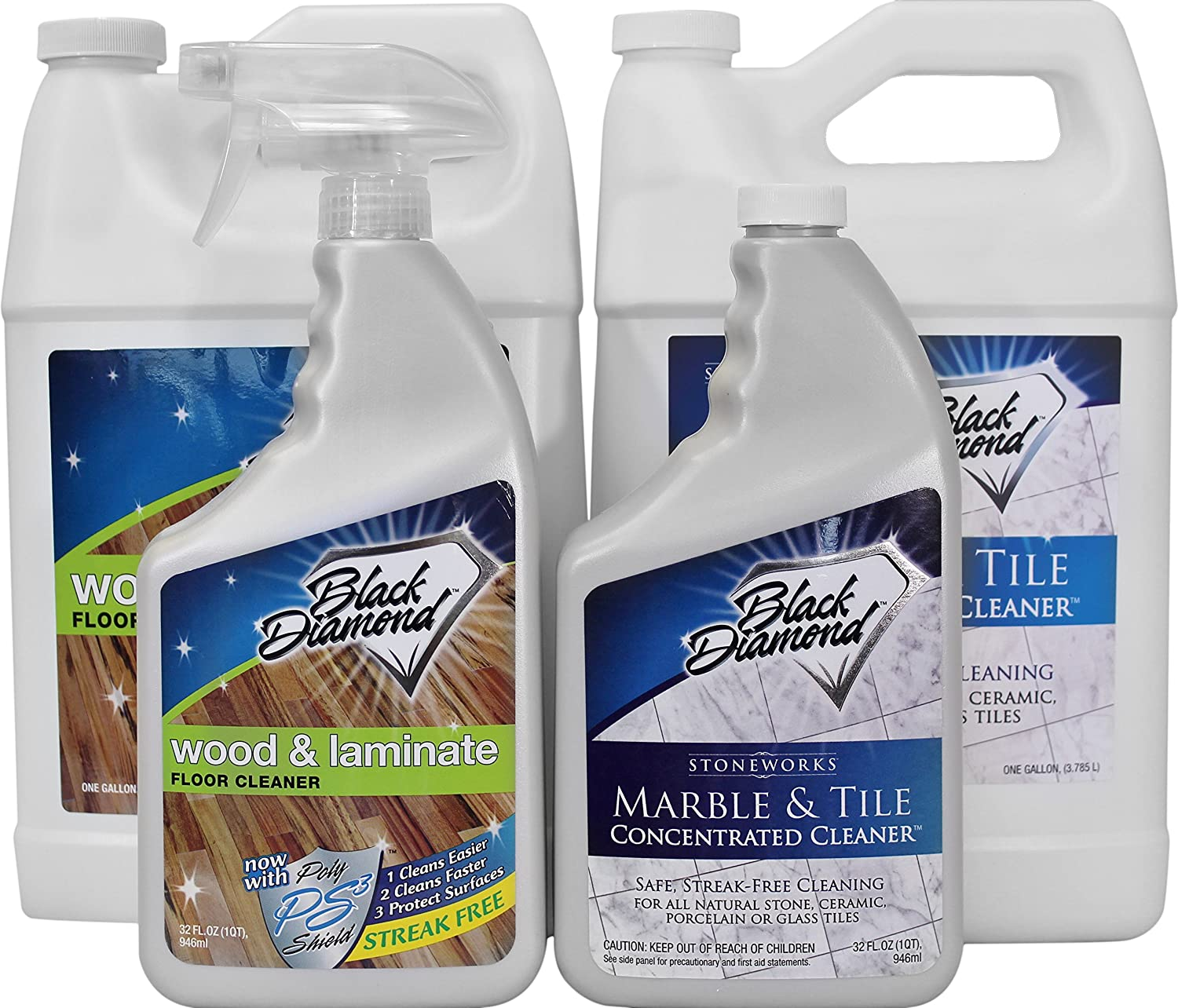 Amazon black diamond wood laminate floor cleaner 1 gallon amazon black diamond wood laminate floor cleaner 1 gallon for hardwood real natural engineered flooring biodegradable safe for cleaning all dailygadgetfo Gallery