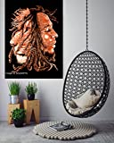 "ANJANIYA Bob Marley Lion Face Beautiful Bohemian Room Dorm Decor Hippie Small Boho Rasta Tapestry Poster 30""x40"" Psychedelic Reggae Tapestries Wall Art Hanging Gypsy Posters (Brown)"