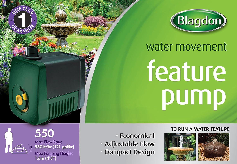Blagdon Mini Garden Pond Caratteristica Pompa Acqua 550 10m