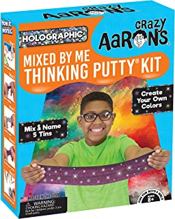 product image for Crazy Aaron's Thinking Putty - Holographic Mixed by Me Thinking Putty Kit - Create Your Own Colors, Mix and Name 5 Tins - Never Dries Out