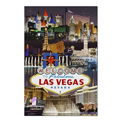 Las Vegas, Nevada - Casinos and Hotels Montage (Premium 1000 Piece Jigsaw Puzzle for Adults, 20x30, Made in USA!): Toys & Games