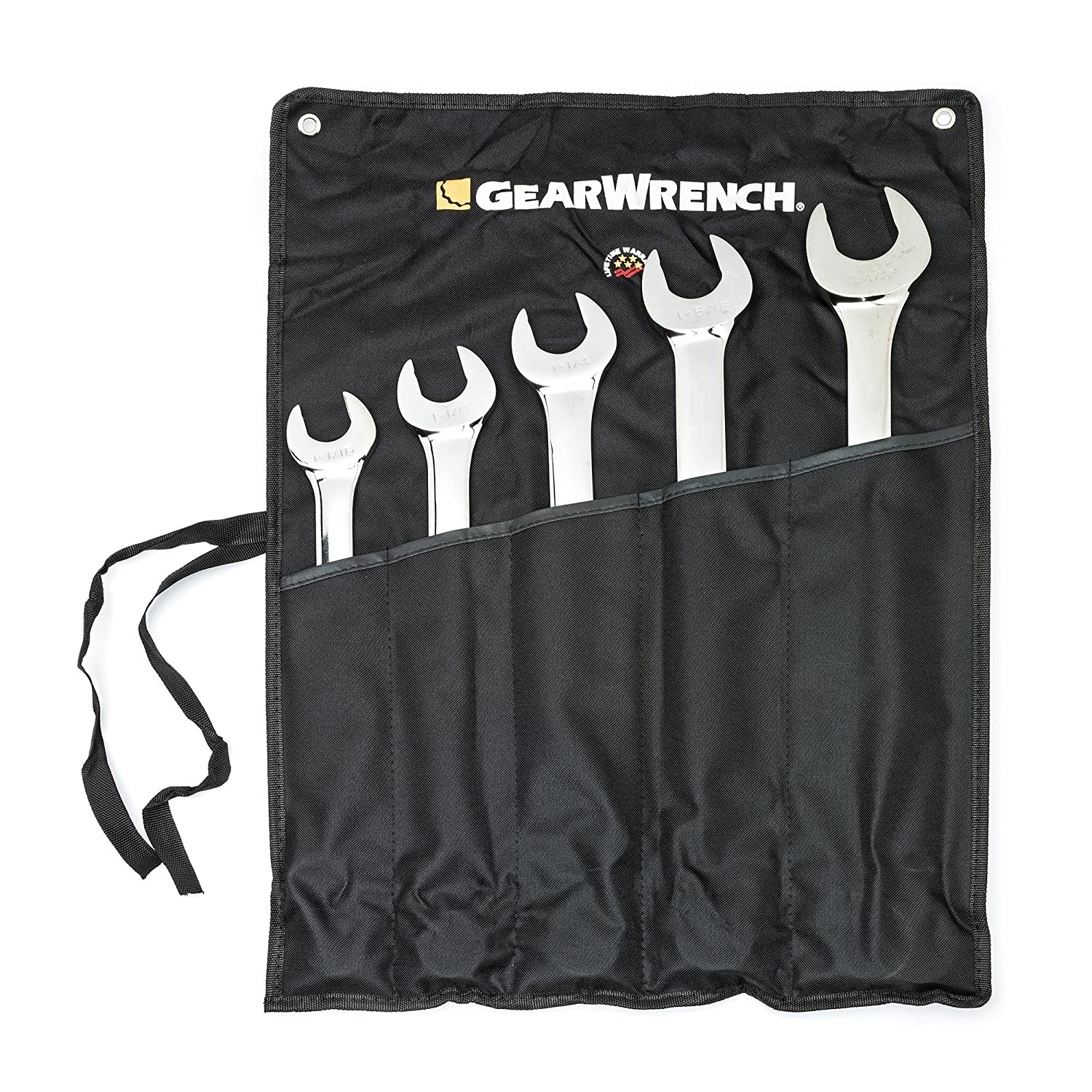 GEARWRENCH 5 Pc. SAE 12 Point Long Pattern Combination Wrench Set - 81921