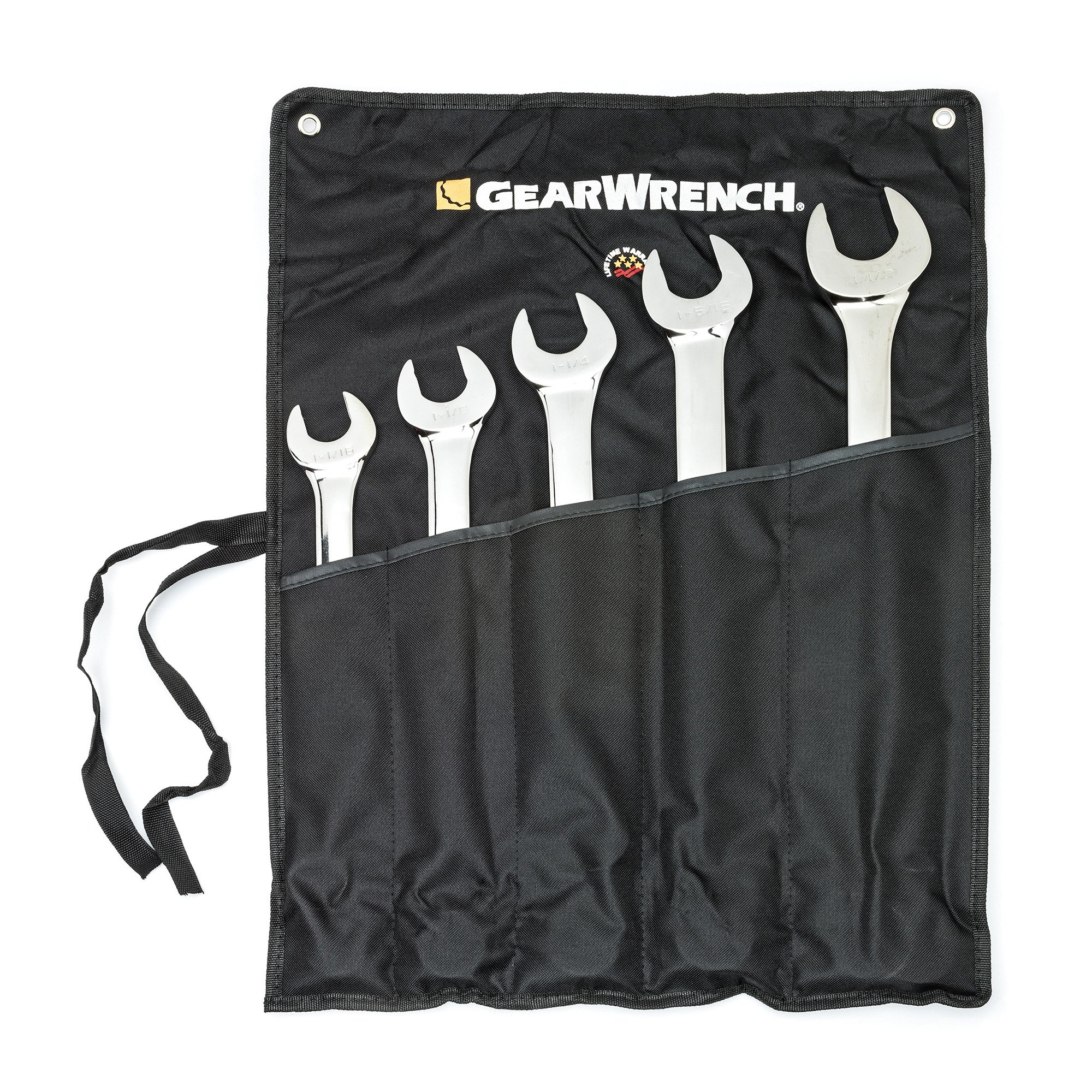 GEARWRENCH 5 Pc. SAE 12 Point Long Pattern Combination Wrench Set - 81921 by GearWrench