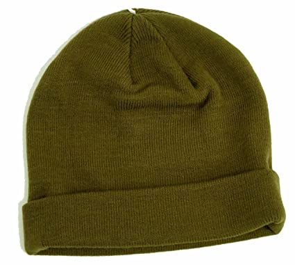0b1a8998cf0 Image Unavailable. Image not available for. Colour  Topman Mens Khaki Mini  Fit Beanie Ribbed Hat ...