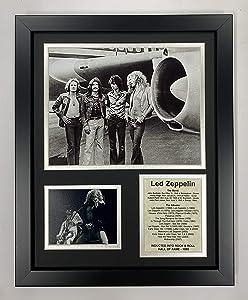 """Led Zeppelin 11"""" x 14"""" Framed Photo Collage - Plane"""