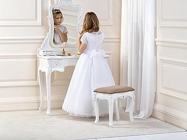 Lacey Bell Vestito Bambina Damigella Prima Comunione Organza Gonna Corpetto Raso  CD-14  Amazon.it  Abbigliamento 326d52e26b1
