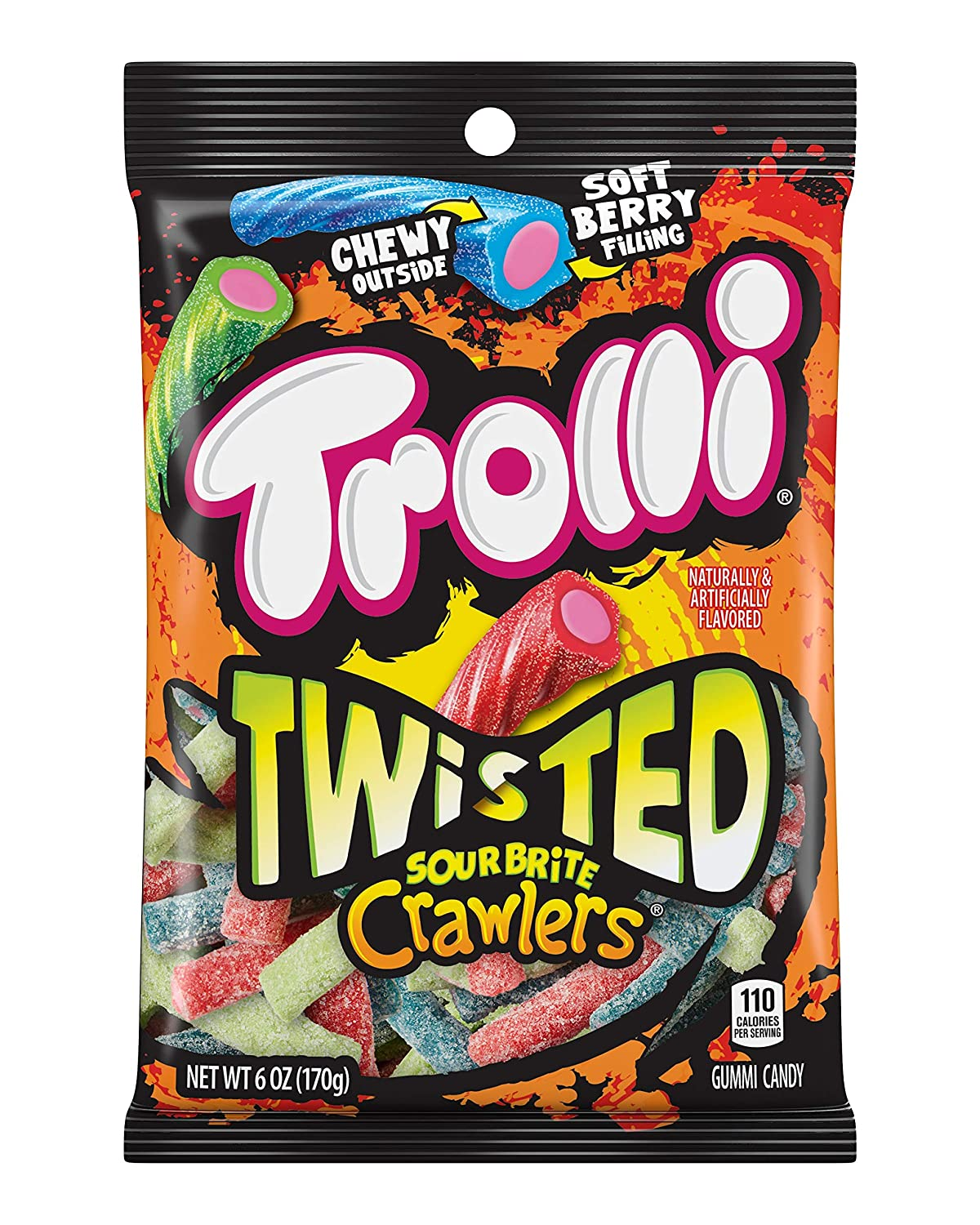 88fd6077015 Amazon.com   Trolli Twisted Sour Brite Crawlers Gummy Candy ...
