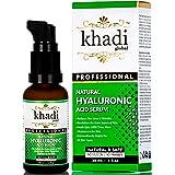 Khadi Global Natural Hyaluronic Serum 30ml Best Face Serum for Both Men & Women, Best Anti Ageing Serum, Best Anti Wrinkle Serum, Best Night Serum, Best Beauty Serum Retainsskinmoisture