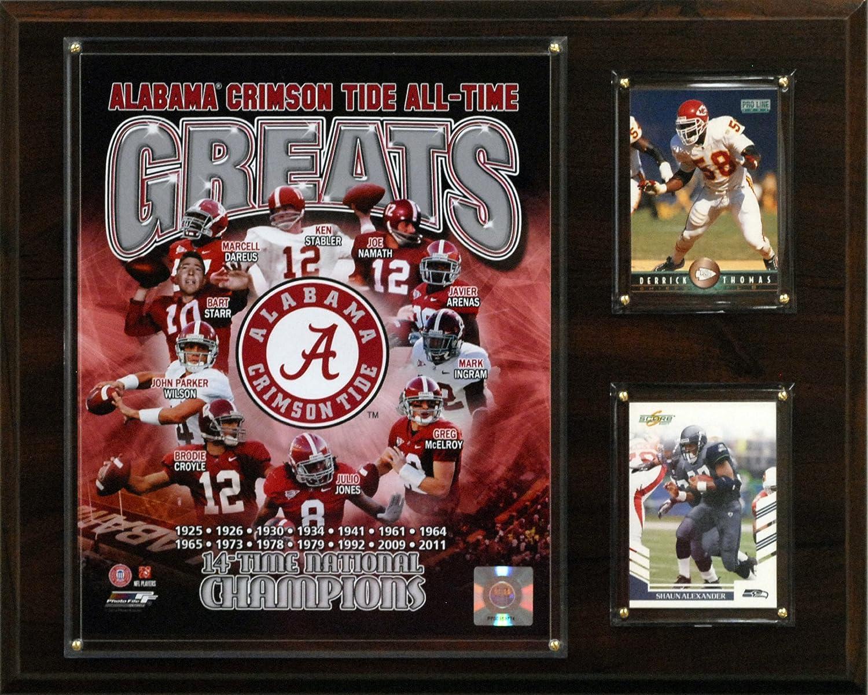 NCAA Football Alabama Crimson Tide All-Time Greats Photo Plaque C/&I Collectables 1215TIDEGREAT