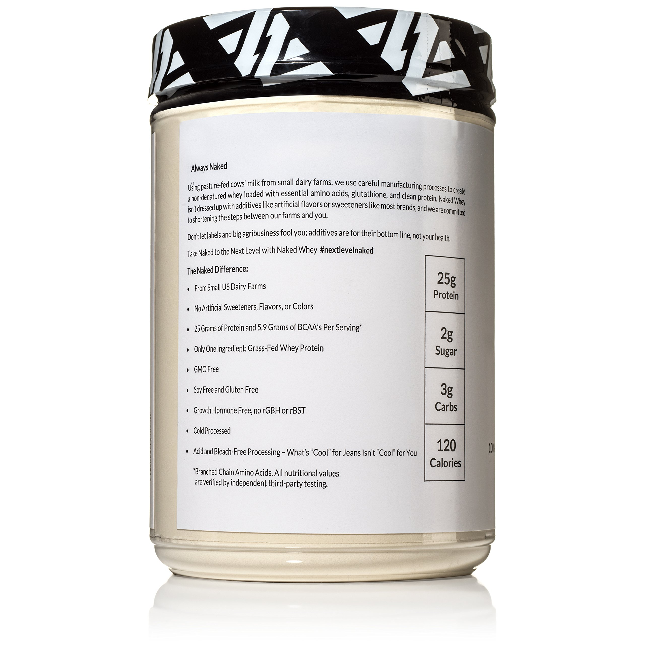 Naked WHEY 1LB 100% Grass Fed Unflavored Whey Protein Powder - US Farms, Only 1 Ingredient, Undenatured - No GMO, Soy or Gluten - No Preservatives - Promote Muscle Growth and Recovery - 15 Servings by NAKED nutrition (Image #4)