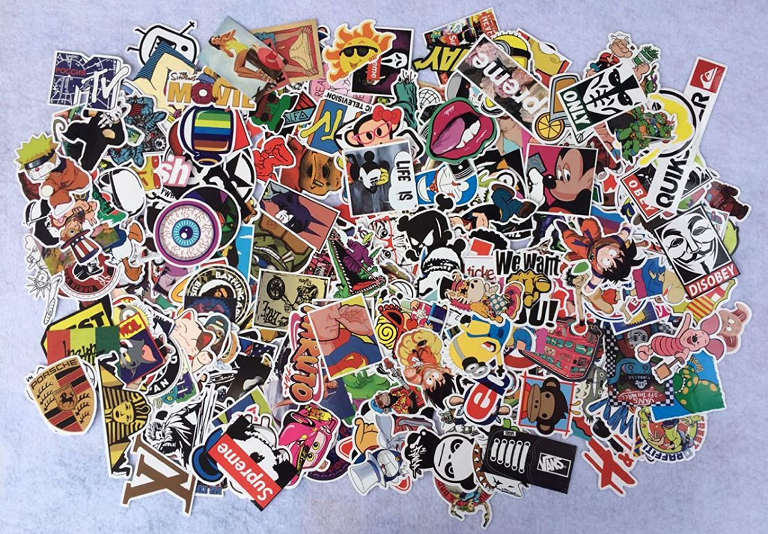 Amazon 400pcs random decal graffiti sticker bomb laptop amazon 400pcs random decal graffiti sticker bomb laptop waterproof stickers skate mix lot toys games amipublicfo Gallery