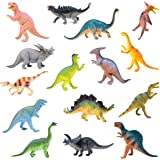 """Boley Monster 15 Pack Large 7"""" Toy Dinosaur Set - Enormous Variety of Authentic Type Plastic Dinosaurs - Great As Dinosaur Pa"""