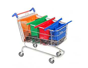 Amazon.com: Trolley Bags - Reusable Eco Friendly Shopping Bags to ...