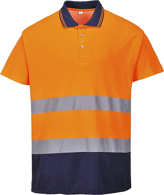 Portwest S174-2-Tone algodón Comfort Polo, color, talla 3 XL ...
