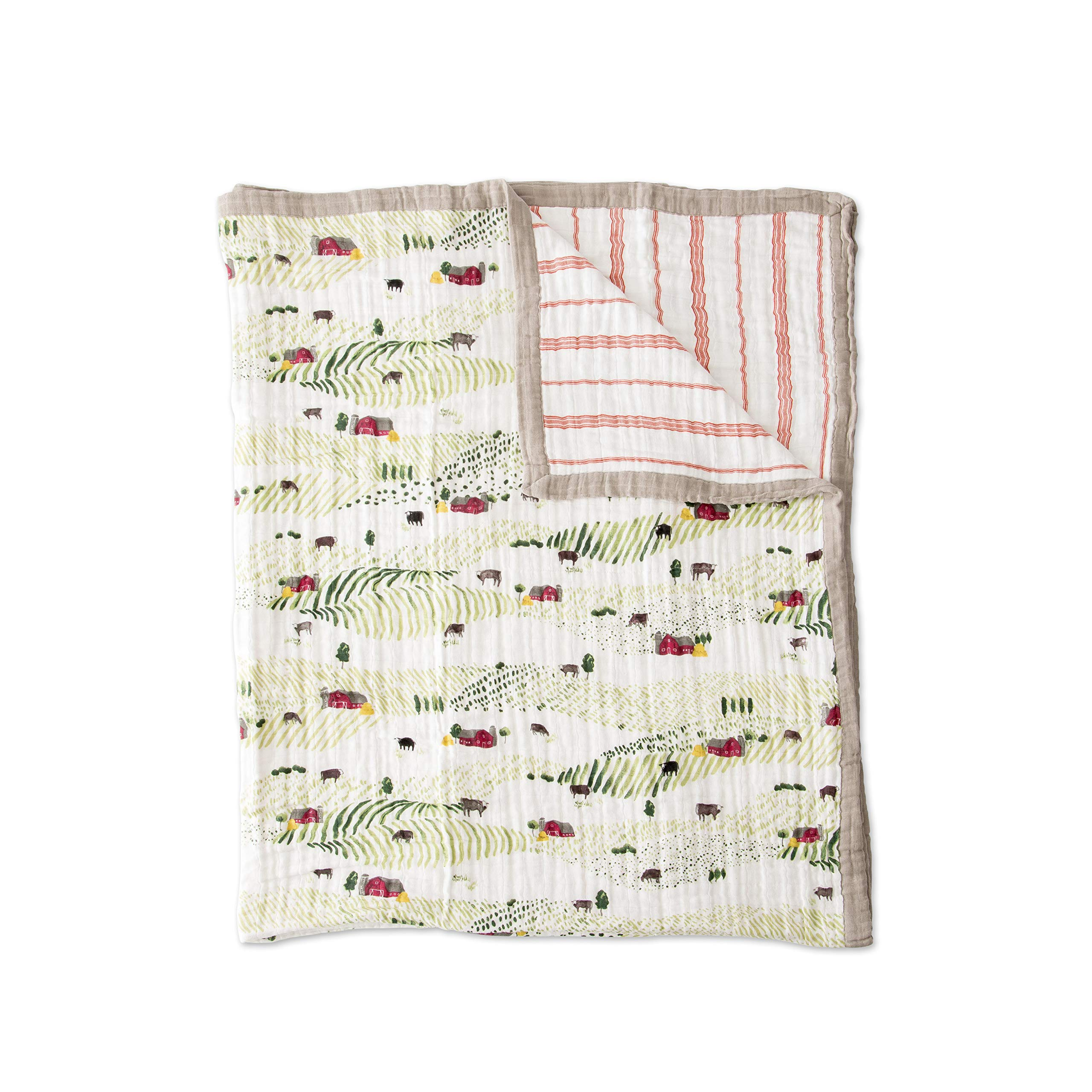 Little Unicorn Extra Soft Cotton Muslin Large Quilt Blanket - Rolling Hills
