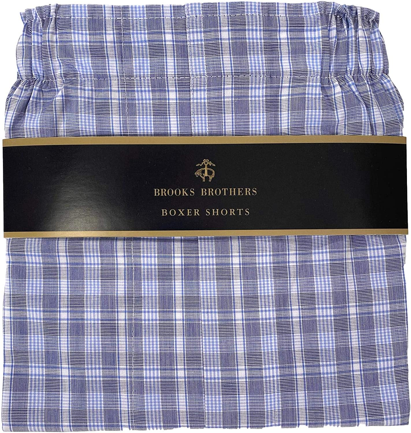Brooks Brothers Traditional Fit Boxer Shorts Underwear Green Blue Plaid Boxers