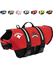 Paws Aboard PAWR1200 Neoprene Designer Doggy Life Jacket, Extra Small, Red Lifeguard