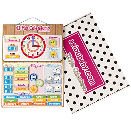 Calendario Ua.Calendario Orologio Magnetico Per Bambini Gioco Educativo Data Tempo E Ora Per Parete O Frigorifero 43x32cm Scatola Ideale Come Regalo Di