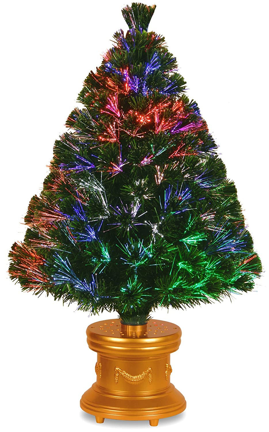 Amazon.com: National Tree 36 Inch Fiber Optic Evergreen Firework ...