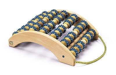 Sissel - Aparato de masaje con rodillos para los pies, color azul
