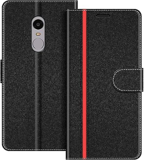COODIO Funda Xiaomi Redmi Note 4 con Tapa, Funda Movil Xiaomi Redmi Note 4, Funda Libro Xiaomi Redmi Note 4 Carcasa Magnético Funda para Xiaomi Redmi Note 4, Negro/Rojo: Amazon.es: Electrónica