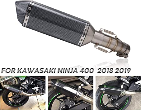 Motorcycle Slip on Exhaust full system With Muffler Fit For Kawasaki ninja 400 ninja400 Z400 2018 2019 middle pipe with exhaust