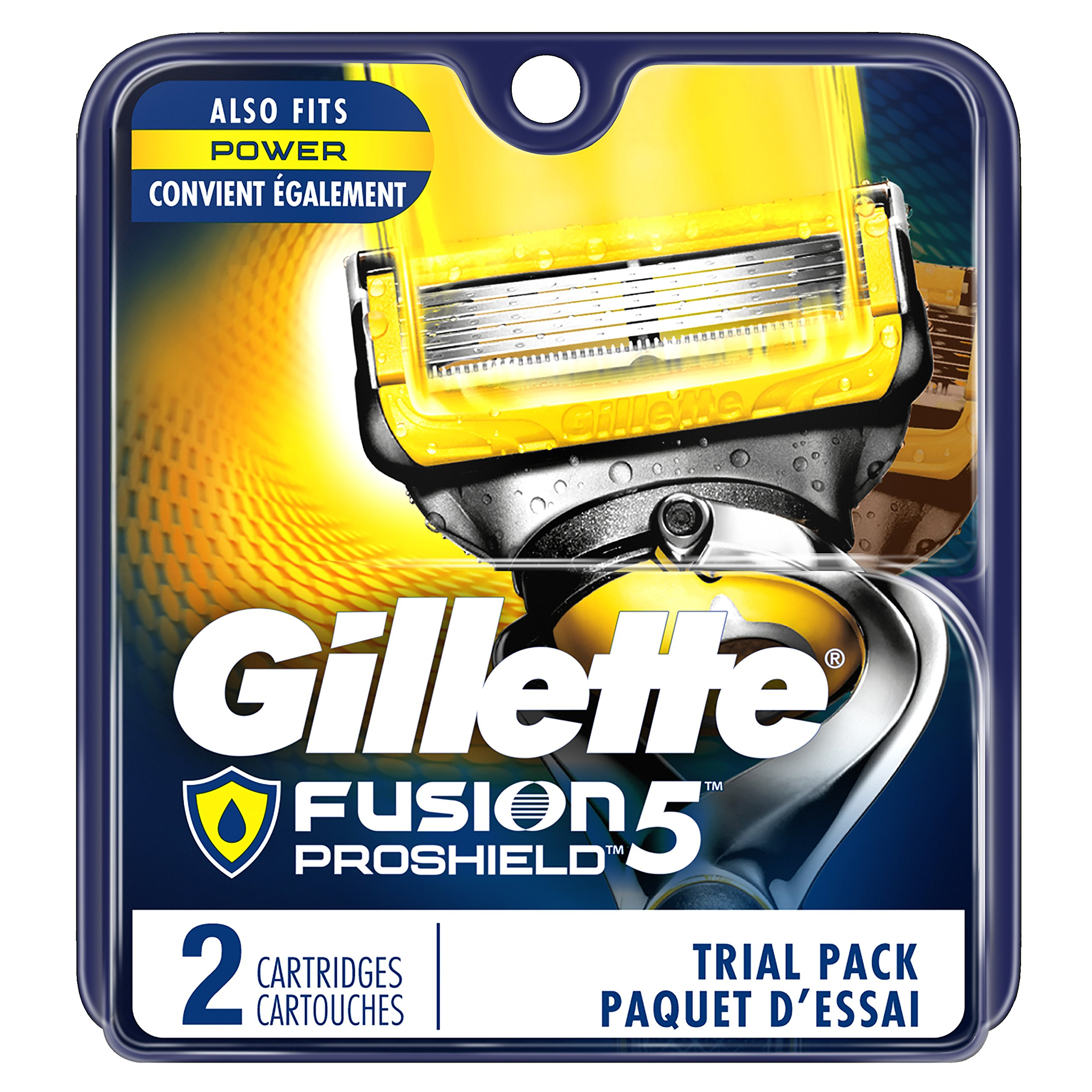 Gillette Fusion5 ProShield Men's Razor Blades, 2 Blade Refills (Packaging May Vary)