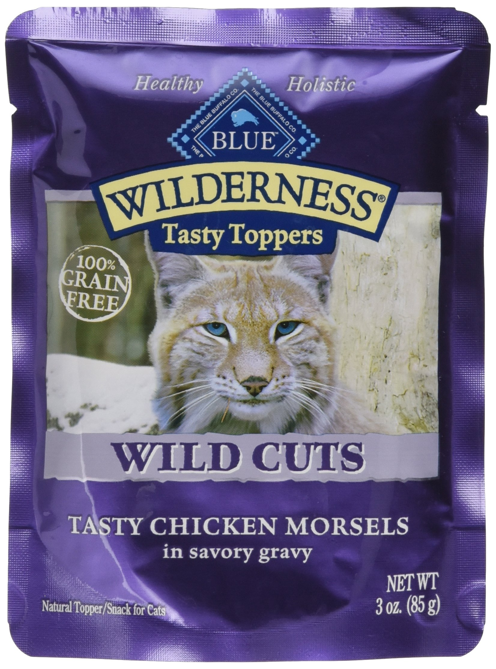 Blue Buffalo Wilderness Tasty Topper Chicken Morsels Food, 24 By 3 Oz.