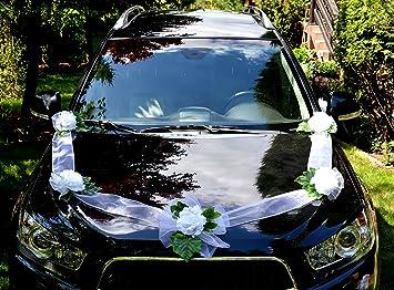 Amazon De Autoschmuck Autodeko Hochzeit 5 Rosen Dekor Verschieden