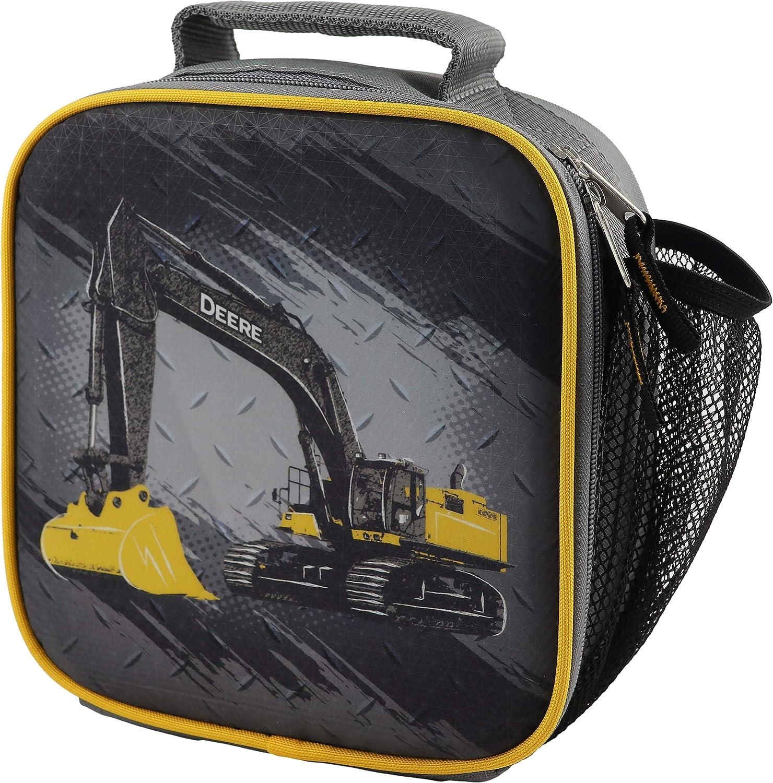 John Deere Boys' Child Excavator Lunchbox, Grey