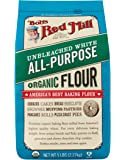 Bob's Red Mill Organic Unbleached White All-Purpose Flour, 5 Pound (Pack of 4)