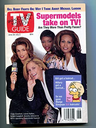 Tv guide 6/26/93 paragon cable manhattan ed cindy crawford at.